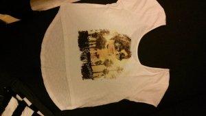 T-Shirt mit Print, weiß