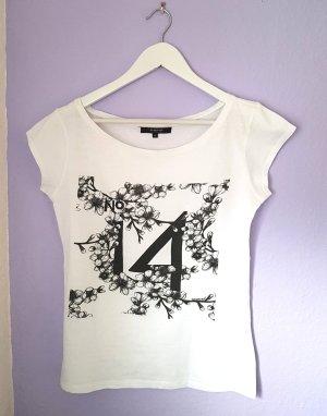 T-Shirt mit Printmuster Schwarz Weiß Gr. S