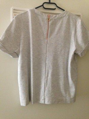 T Shirt mit Reißverschluss am Rücken