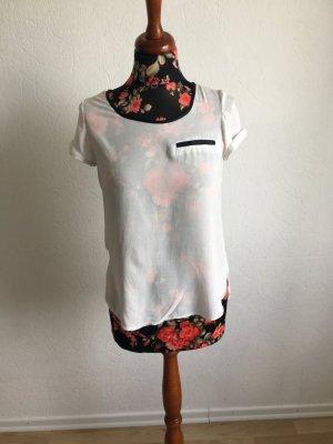 T-Shirt, mit Reißverschluss, Größe 36,