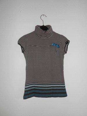 T - Shirt mit Rollkragen gr S gestreift