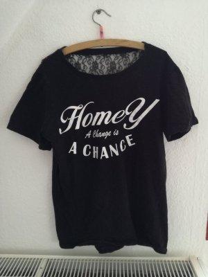 T-Shirt mit Rückenverziehrung