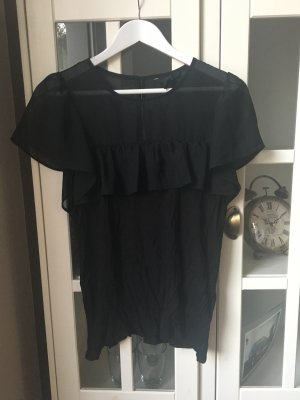 T-Shirt mit Rüschen an der Brust