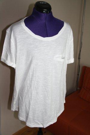 T-Shirt mit Rundhalsausschnitt weiß