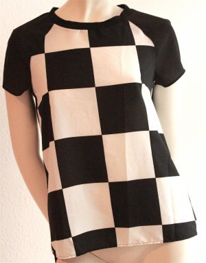 T-Shirt mit Schachbrettmuster