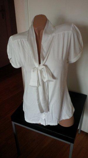 T-Shirt mit Schleife von Hallhuber, weiß, Gr. XL
