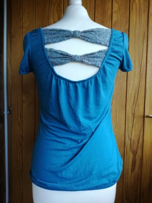 T-Shirt mit Schleifen am Rücken Gr. S