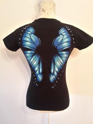 T-Shirt black-blue