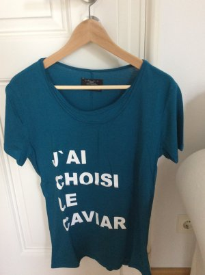 """T- Shirt mit Schriftzug """"J'ai choisi le caviar"""" von Zara"""