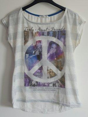 T-Shirt mit Silberstreifen