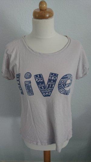 T-Shirt mit Spruch als Print