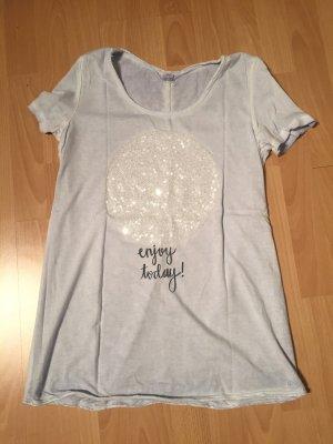 T-Shirt mit Statement-Spruch und Pailletten S.Oliver Größe 38