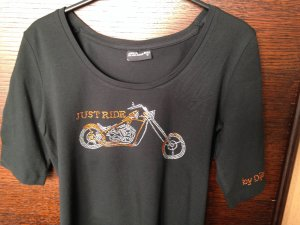 T Shirt mit Strass Motiv Bike Dijea Collection