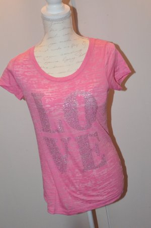 "T-Shirt mit Strassprint ""Love"""