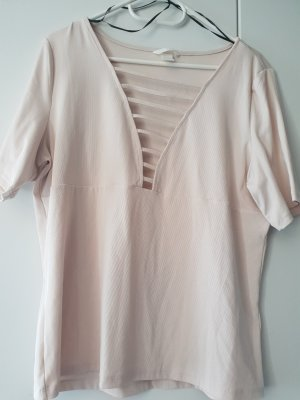 H&M T-shirt licht beige