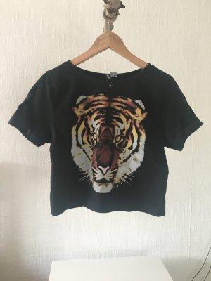 T-Shirt mit Tiger Print