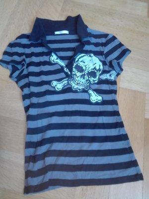 T-shirt mit Totenkopf Print