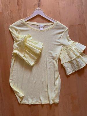 H&M Camiseta amarillo claro