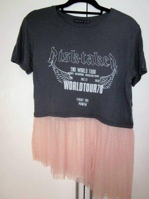 T-shirt mit Tüllbesatz  S