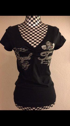Soccx T-shirt col en V noir