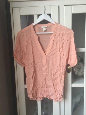 T-Shirt mit V-Ausschnitt, apricot •H&M•