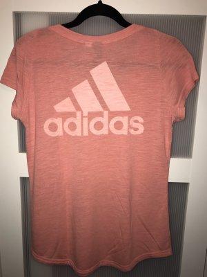 Adidas V-hals shirt zalm