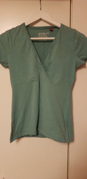 Esprit V-Neck Shirt cadet blue-sage green