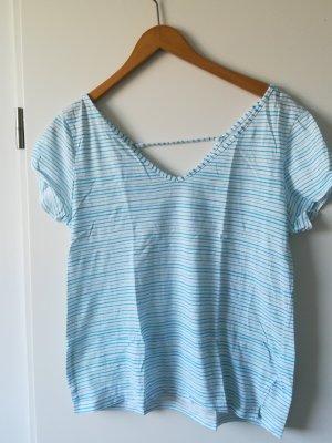 edc Stripe Shirt white-mint cotton