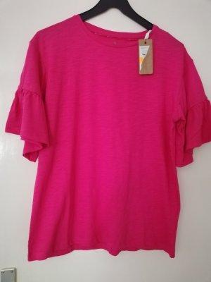 Carmen shirt magenta Katoen