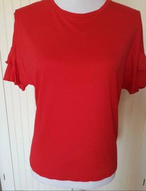 T-Shirt mit Voulant-Ärmeln