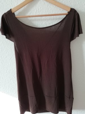 Vero Moda Cowl-Neck Shirt black brown-brown viscose