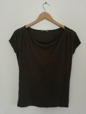 Orsay Camisa con cuello caído verde oliva Viscosa