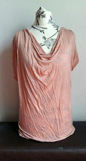 T-Shirt mit Wasserfallausschnitt von H&M Gr.S