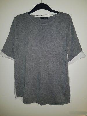 T-shirt mit weißem Netzstoff