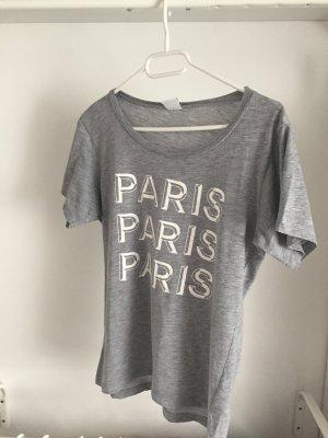 T-shirt mit Weißem Paris Aufdruck