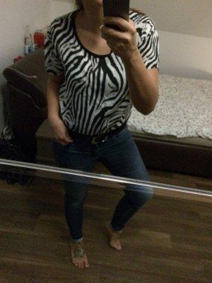 T-Shirt mit Zebramuster