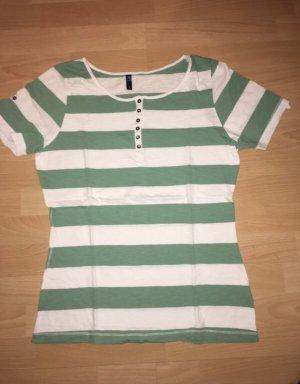 T-Shirt Multiblu grün, weiß in Größe L