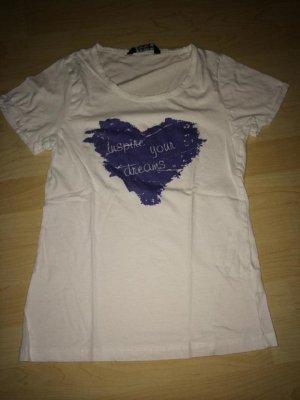 T-Shirt Multiblu weiß, blau in Größe M