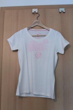 T-Shirt, Mustang, weiß und rosa