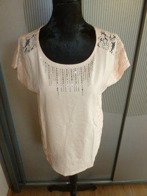 T-Shirt nude Spitze She Neu