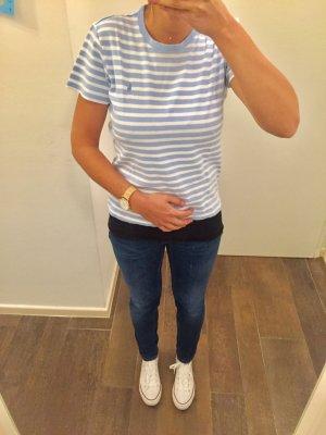 T-Shirt Oberteil kurzärmlig Ralph Lauren gestreift blau weiß Shirt
