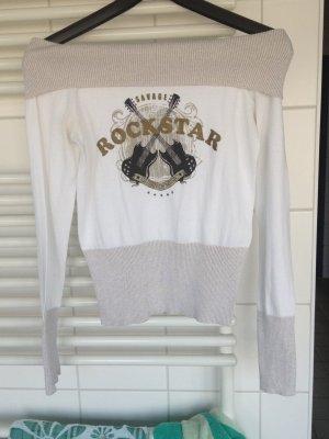 T-Shirt Oberteil Schulterfrei