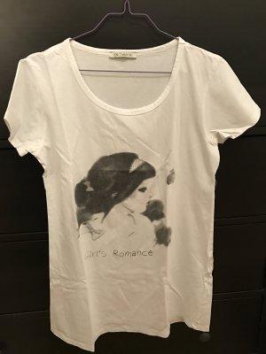 T-Shirt Olé 38 M weiß mit Motiv und Strass