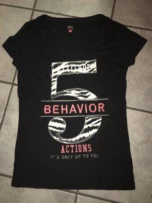 T-Shirt Only schwarz, bunt in Größe M
