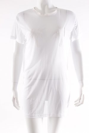 T-Shirt Palmen-Flockdruck