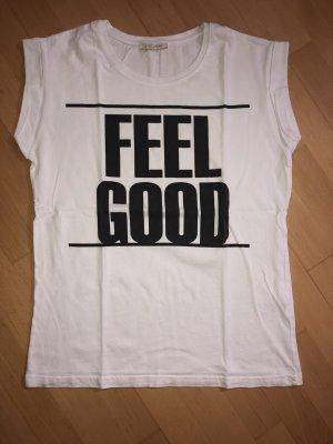 T-Shirt Pieces weiß, schwarz in Größe S