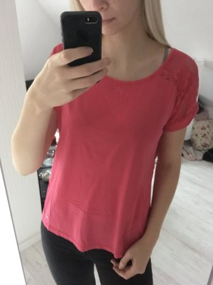 T-Shirt pink spitze