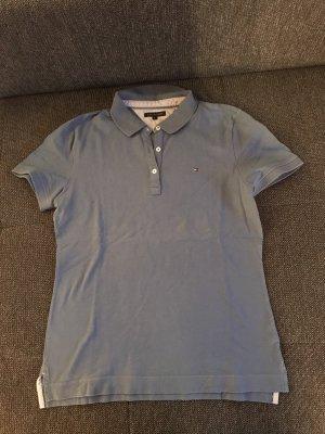 T-Shirt Polo Poloshirt tommy L blau Kragen