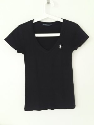 Ralph Lauren V-Neck Shirt white-black