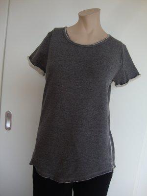 Review Camiseta gris-blanco puro Algodón